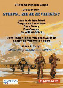 Stripschap Vliegtuig museum Seppe poster