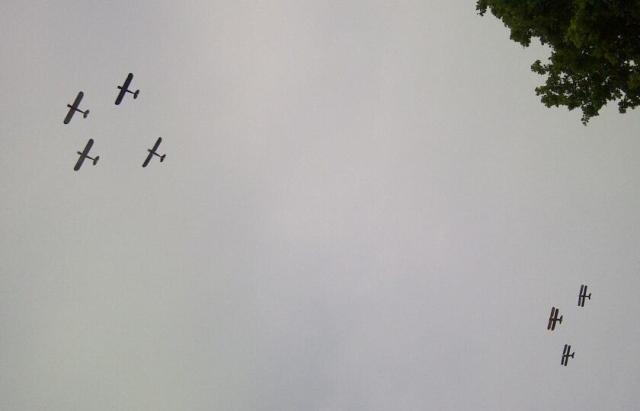 De Memorial Flight van 4 mei 2014 (foto: Pieter Hoolsema)